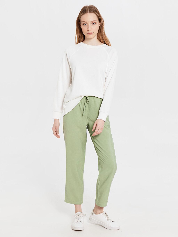 Yeşil Bilek Boy Harem Viskon Pantolon 0S8536Z8 LC Waikiki