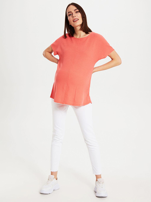 %50 Pamuk %50 Polyester Tişört, Body ve Atlet Dokulu Kumaştan Hamile Tişört