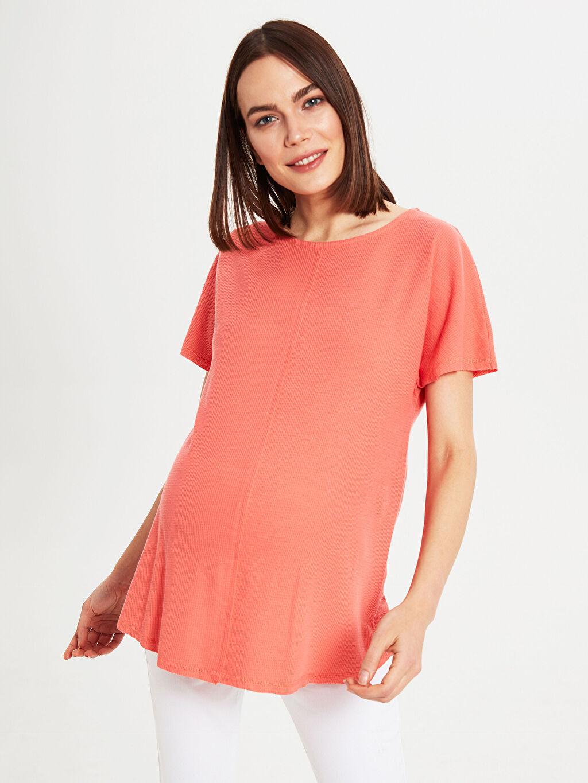Kadın Dokulu Kumaştan Hamile Tişört
