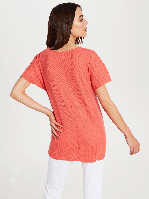 %50 Pamuk %50 Polyester Dokulu Kumaştan Hamile Tişört