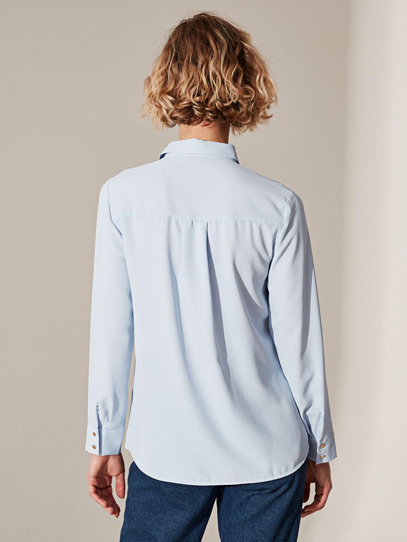%100 Polyester Düz Standart Fit Gömlek