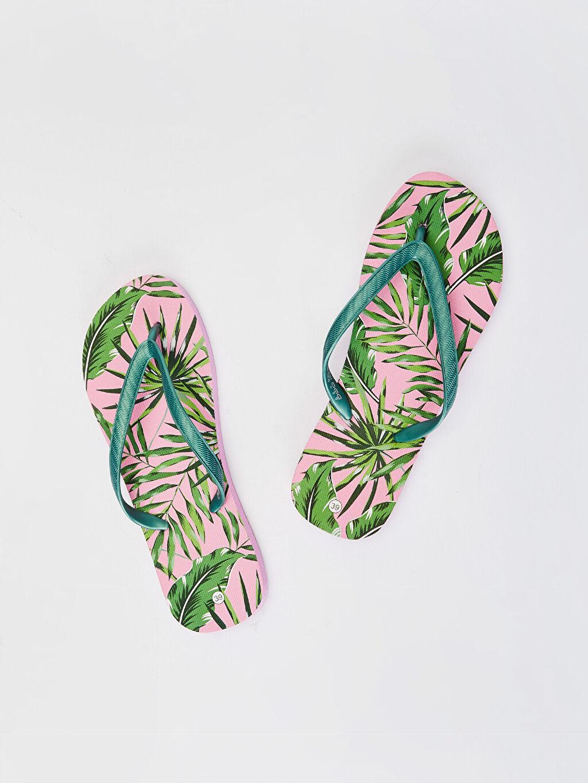 Çok Renkli Kadın Parmak Arası Plaj Terliği 0SG048Z8 LC Waikiki
