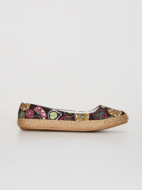 Çok Renkli Kadın Espadril Babet Ayakkabı 0SG079Z8 LC Waikiki
