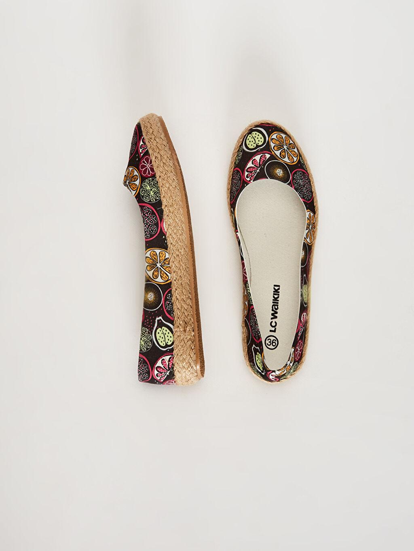 %0 Tekstil malzemeleri (%100 pamuk) %0 Tekstil malzemeleri (%100 jüt)  Kadın Espadril Babet Ayakkabı