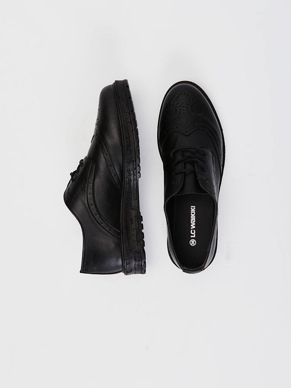 Diğer malzeme (poliüretan) Diğer malzeme (poliüretan)  Kadın Bağcıklı Klasik Ayakkabı