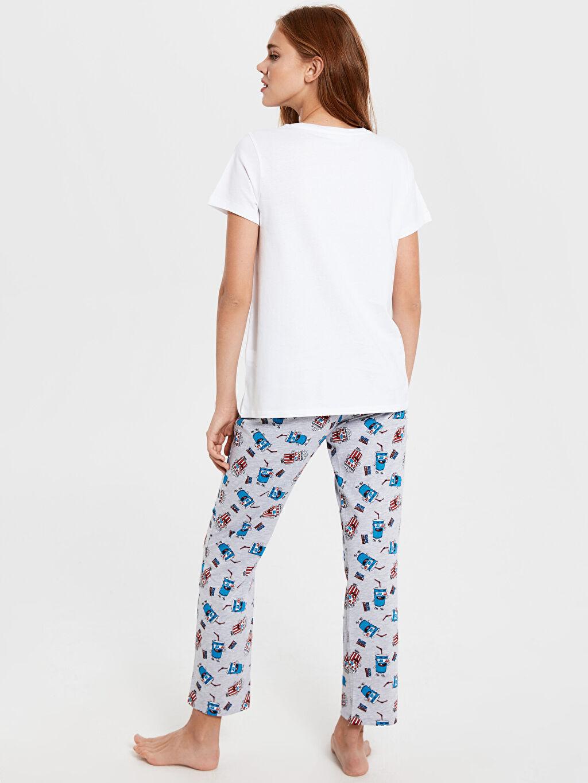 Kadın Baskılı Pamuklu Pijama Takımı