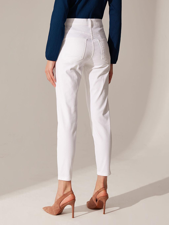 %97 Pamuk %3 Elastan Bilek Boy Super Slim Jean Pantolon