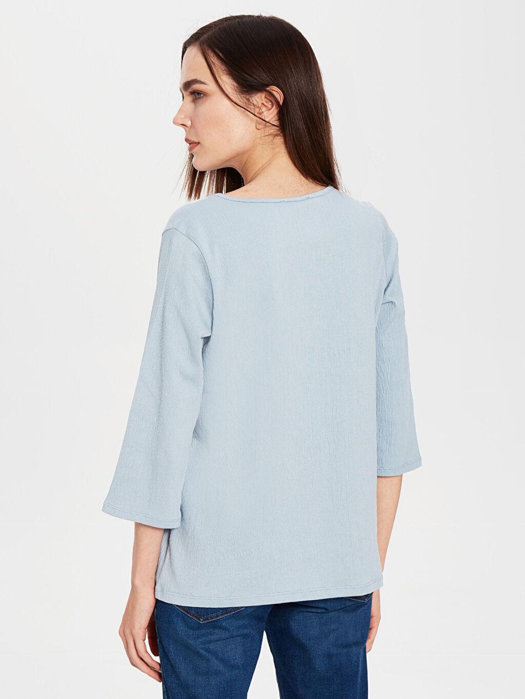 Kadın Nakışlı Kısa Kollu Tişört