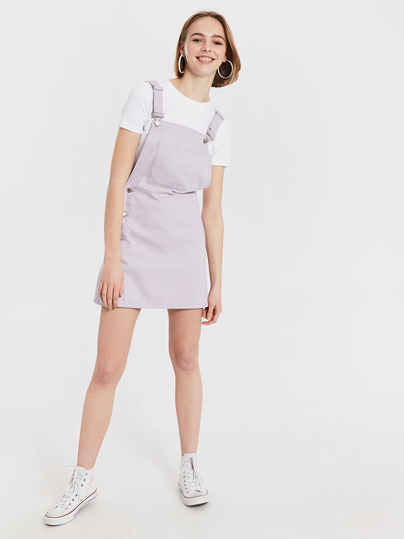Lila Salopet Mini Jean Elbise 0SI793Z8 LC Waikiki
