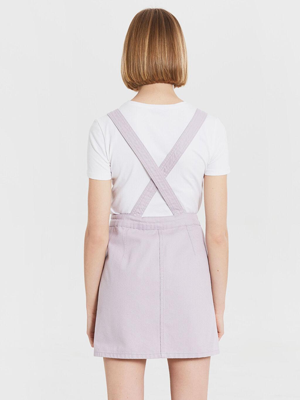 Kadın Salopet Mini Jean Elbise
