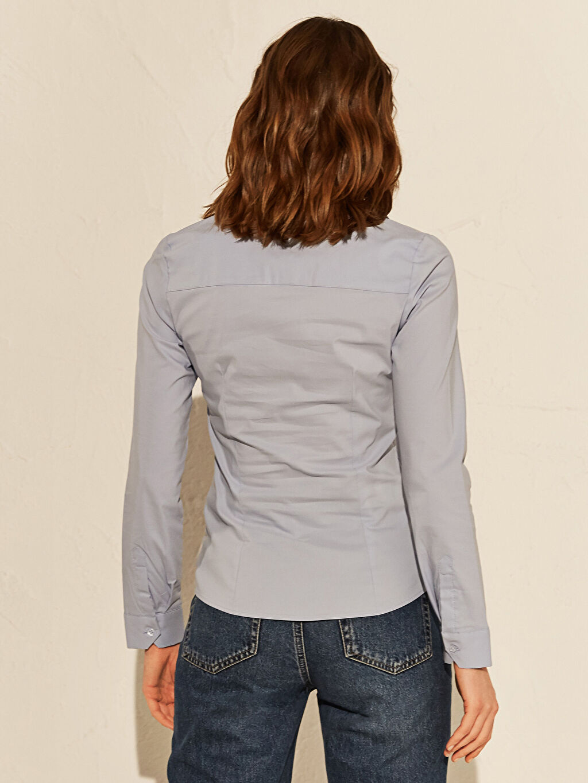 %70 Pamuk %25 Polyester %5 Elastan Vual Gömlek