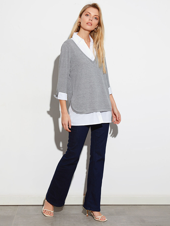 Kadın Düz Uzun Kollu Tişört