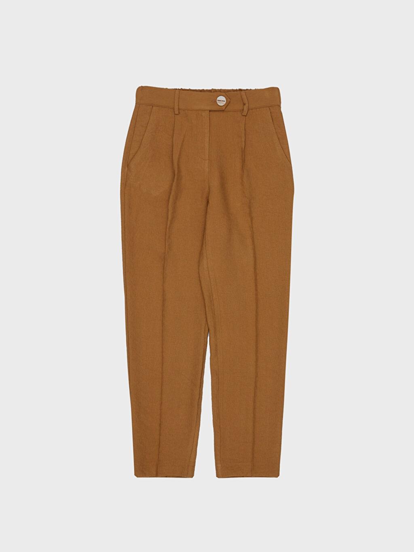 %13 Polyester %87 Viskoz Bilek Boy Havuç Pantolon
