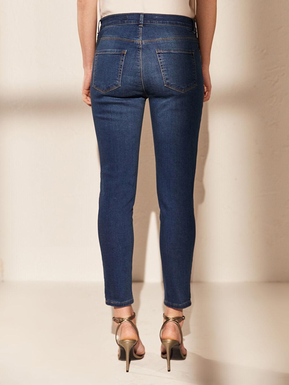 %98 Pamuk %2 Elastan Bilek Boy Super Slim Jean Pantolon