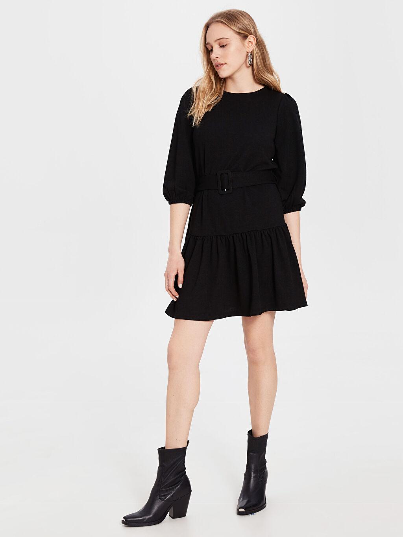 Kadın Kemerli Mini Elbise