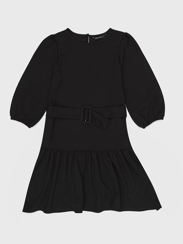 LC Waikiki Siyah Kemerli Mini Elbise
