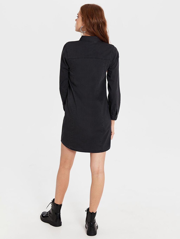 Kadın Diz Üstü Düz Uzun Kollu Elbise