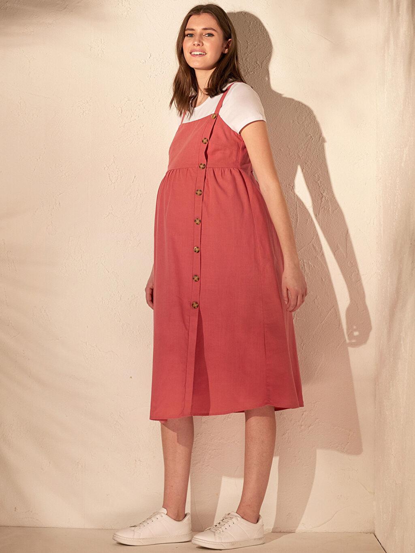 Pembe Askılı Pamuklu Hamile Elbisesi 0SK932Z8 LC Waikiki