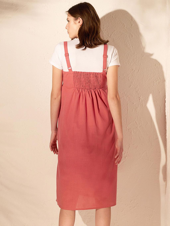 Kadın Askılı Pamuklu Hamile Elbisesi