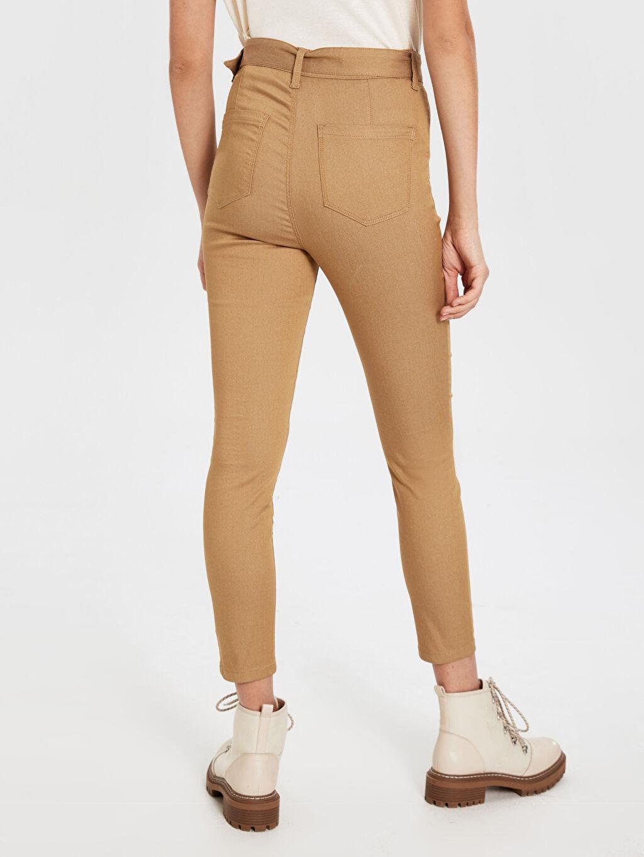 Kadın Kemerli Skinny Pantolon