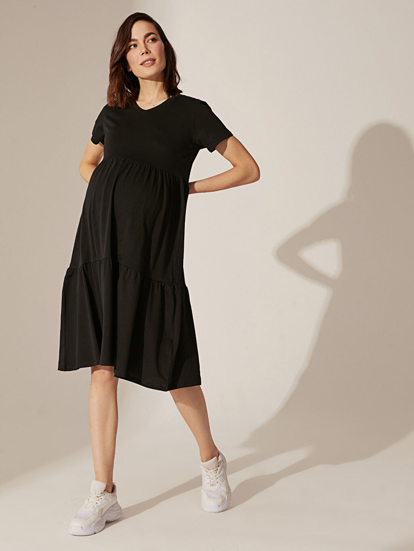 Kadın Hamile Pamuklu Elbise