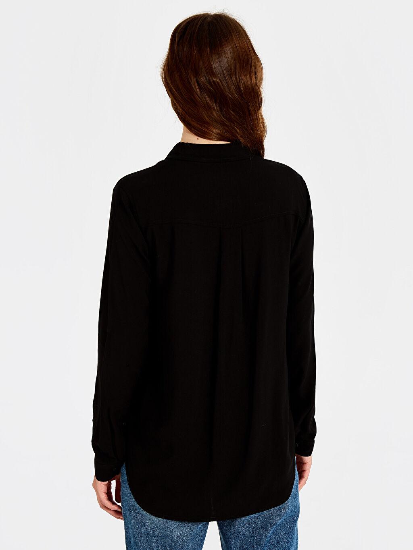 Kadın Düz Viskon Gömlek