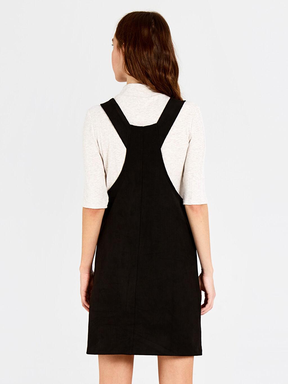 Kadın Süet Salopet Mini Elbise