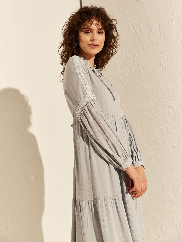 Kadın Dantel Detaylı Viskon Elbise