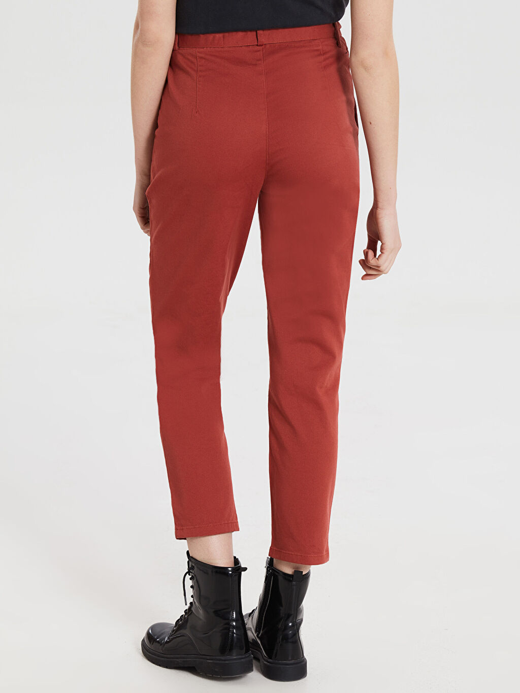 Kadın Kemerli Yüksek Bel Havuç Pantolon