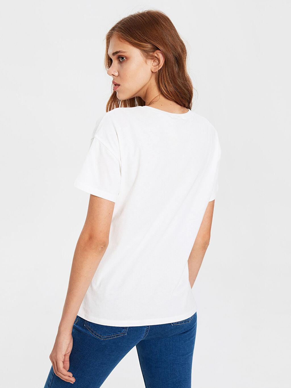 %100 Pamuk Leopar Baskılı Pamuklu Tişört