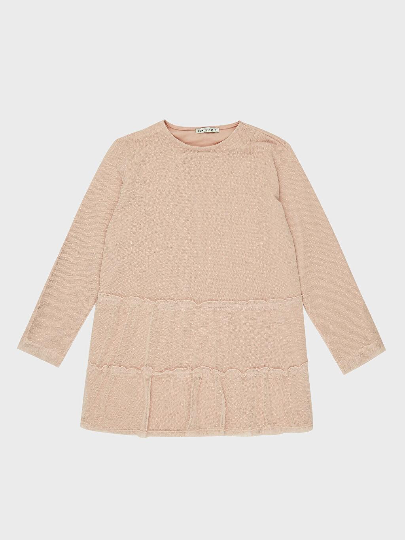 %96 Pamuk %4 Elastan Tül Detaylı Sweatshirt