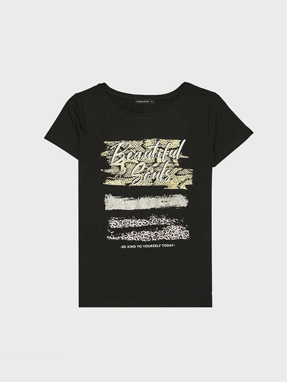 %67 Polyester %33 Viskon Işıltı Baskılı Tişört