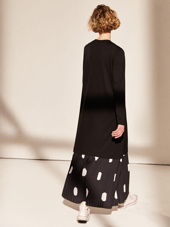 %25 Polyester %73 Viskoz %2 Elastan Fır Fır Detaylı Viskon Elbise