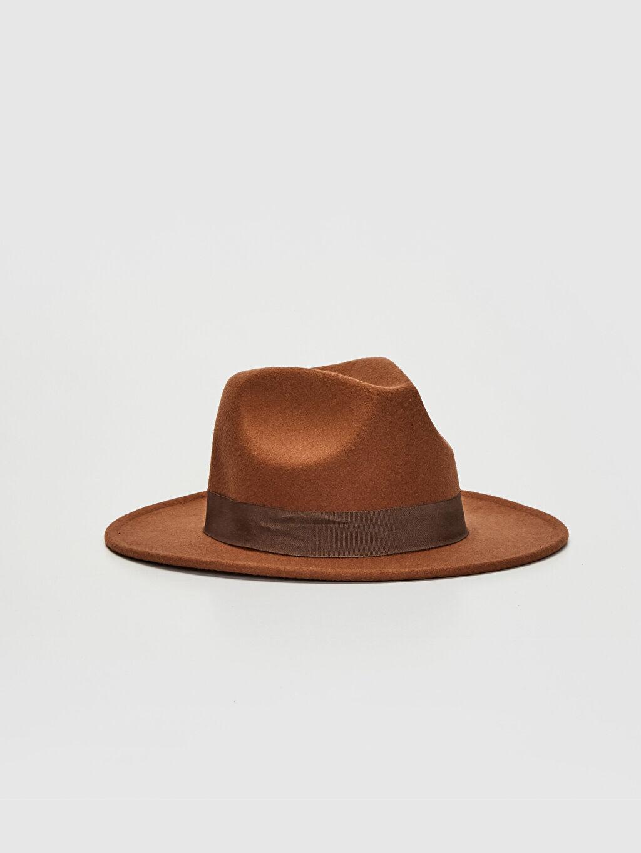 Kahverengi Kaşe Fötr Şapka 0SN210Z8 LC Waikiki