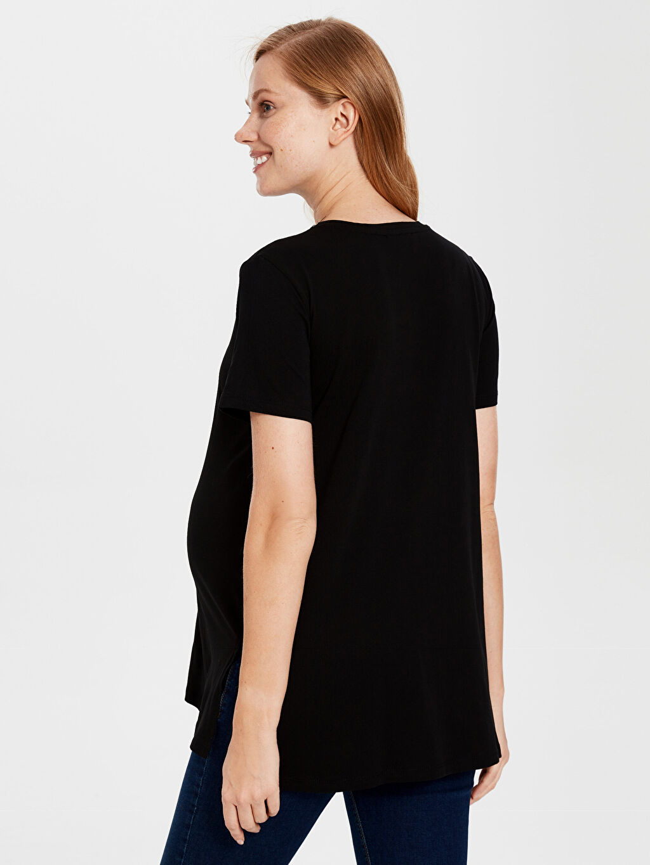Kadın Hamile Pamuklu Tişört