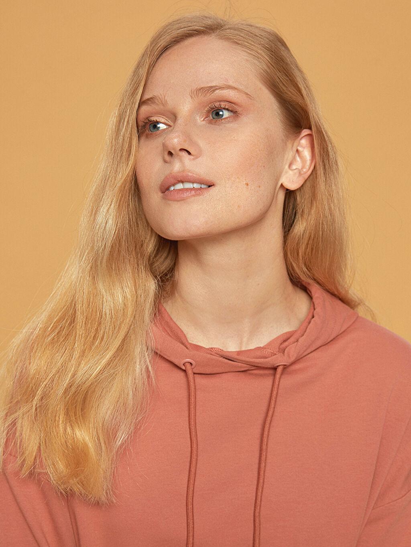 %100 Pamuk Kapüşonlu Oversize Sweatshirt