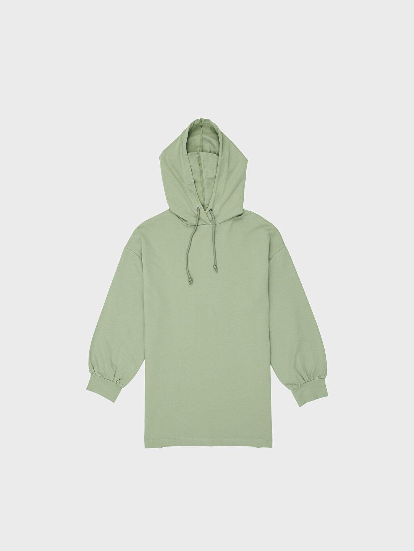 LC Waikiki Yeşil Kapüşonlu Oversize Sweatshirt
