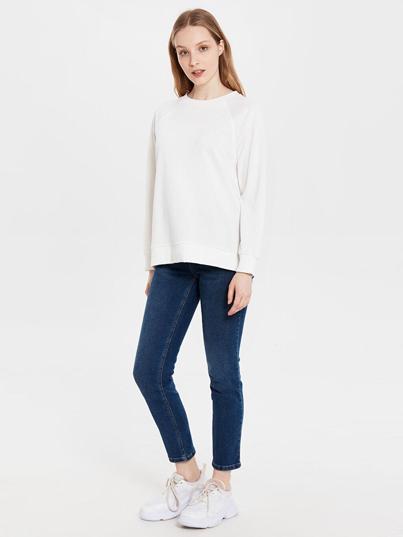 %97 Pamuk %3 Elastan Standart Yüksek Bel Esnek Jean Yüksek Bel Esnek Jean