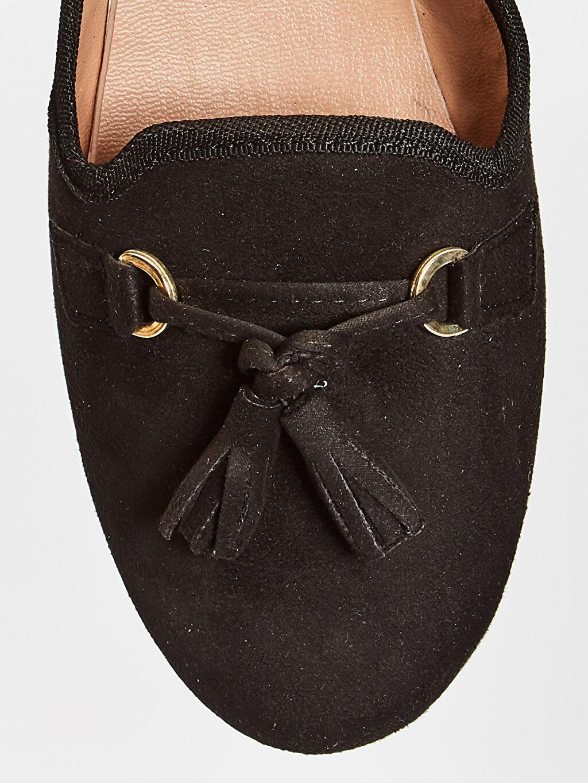 LC Waikiki Siyah Kadın Püskül Detaylı Babet Ayakkabı