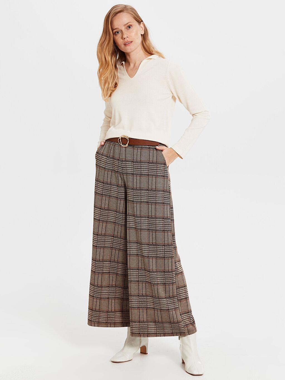 Kadın Ekose Pantolon Etek