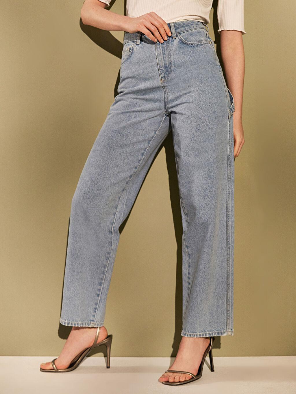 LC Waikiki İndigo Yüksek Bel Jean Pantolon