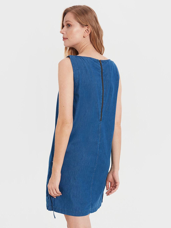 Kadın Kolsuz Jean Elbise