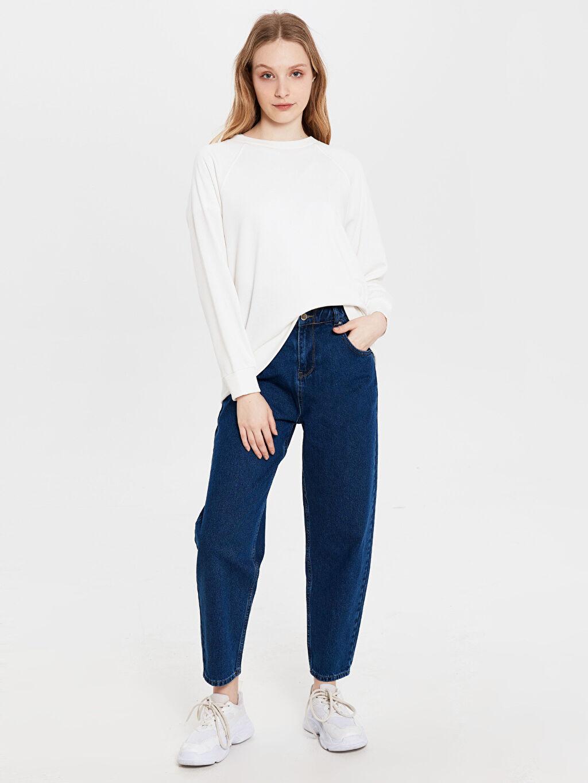 %100 Pamuk Bol Normal Bel Esnek olmayan Normal Bel Bol Jean