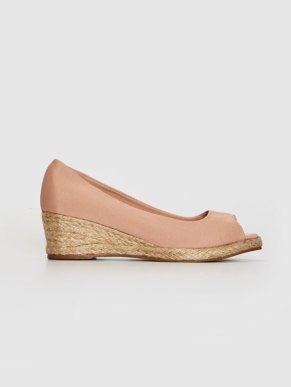 Pembe Kadın Hasır Dolgu Topuk Sandalet 0SA522Z8 LC Waikiki
