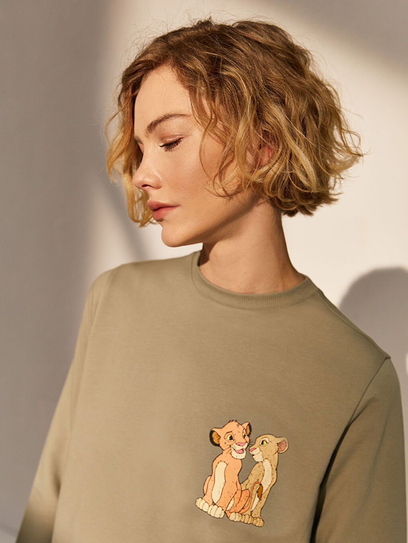 Kadın Baskılı Pamuklu Oversize Sweatshirt