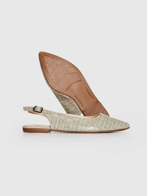 Kadın Kadın Kroko Desenli Sivri Burun Babet Ayakkabı