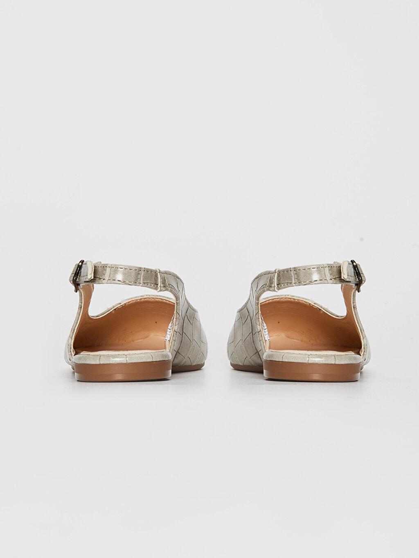 Kadın Kroko Desenli Sivri Burun Babet Ayakkabı
