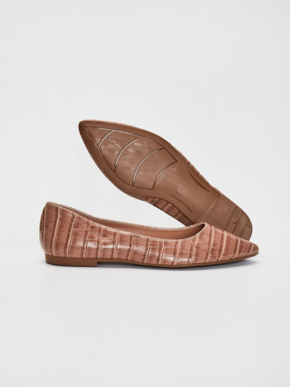 Kadın Kadın Kroko Desenli Babet Ayakkabı