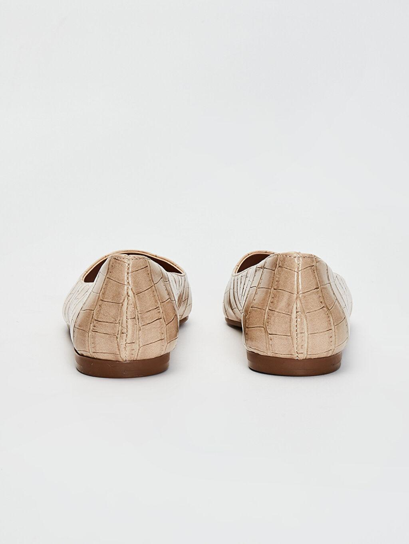 Kadın Kroko Desenli Babet Ayakkabı