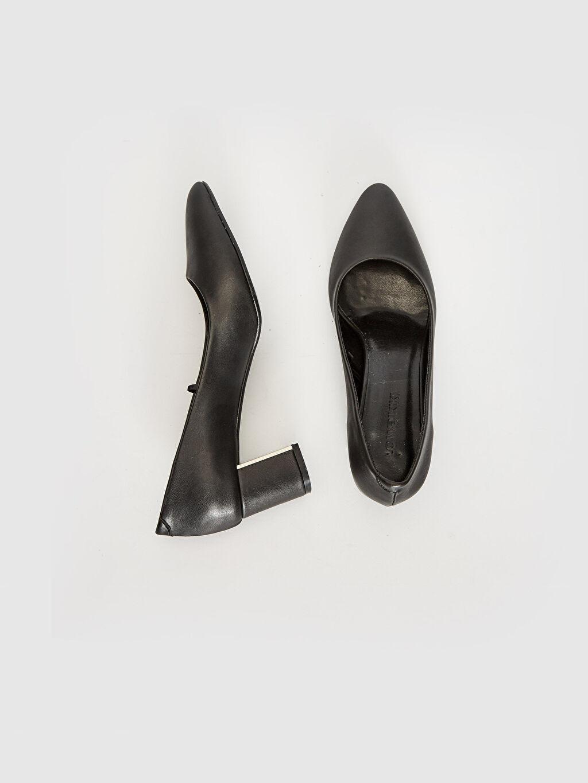 Diğer malzeme (poliüretan)  Kadın Sivri Burun Topuklu Ayakkabı